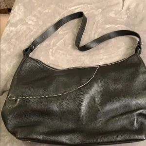 Maxx New York Soft Black Leather Shoulder Bag